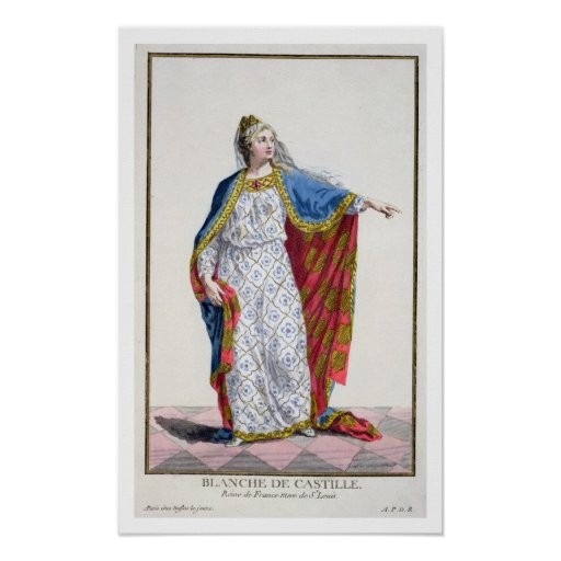Blanche de Castile (1185/88-1252) Queen of France Print