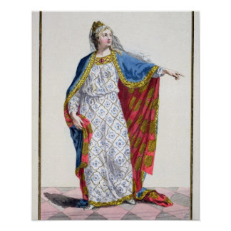 Blanche de Castile (1185/88-1252) Queen of France Poster