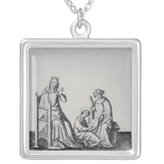 Blanche de Castille Queen of France and her Silver Plated Necklace