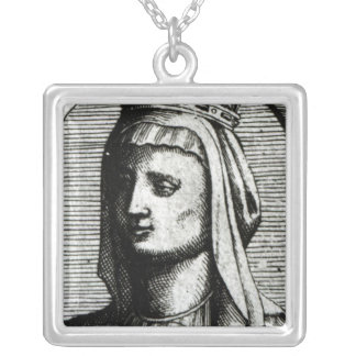 Blanche de Castille  Queen of France Silver Plated Necklace