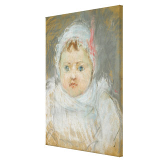 Blanche Pontillon as a Baby, 1872 (pastel on paper Canvas Print
