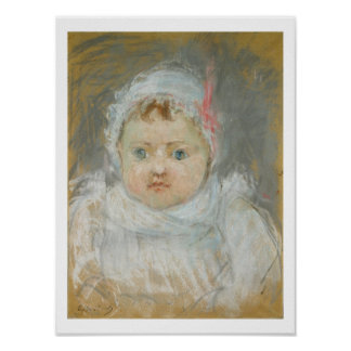 Blanche Pontillon as a Baby, 1872 (pastel on paper Poster