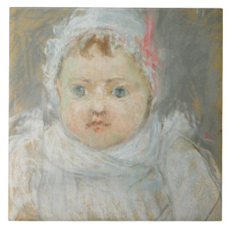 Blanche Pontillon as a Baby, 1872 (pastel on paper Tile