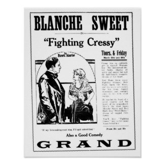 Blanche Sweet 1920 vintage movie ad poster