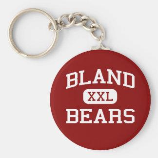 Bland - Bears - Middle School - Bland Missouri Basic Round Button Key Ring