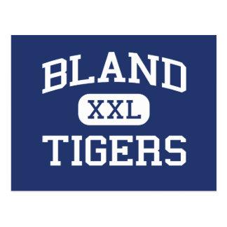 Bland - Tigers - Bland High School - Merit Texas Postcard