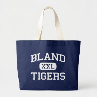 Bland - Tigers - Bland High School - Merit Texas Jumbo Tote Bag