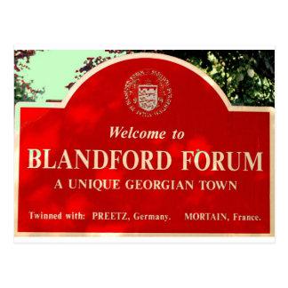 Blandford Postcard