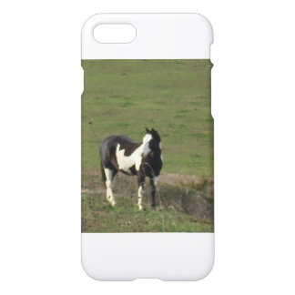 Blank and White Horse on iphone Case