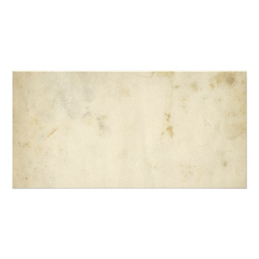 Blank Antique Aged Paper Photo Card