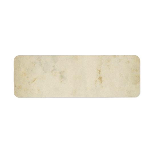 Blank Antique Aged Paper Return Address Label