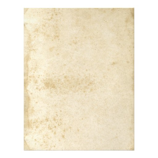 Blank Antique Stained 1870's Paper Flyer