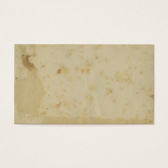 Blank Antique Stained 1870's Parchment Business Card