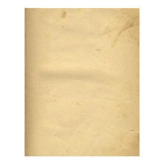 Blank Antique Stained 1880's Paper 21.5 Cm X 28 Cm Flyer