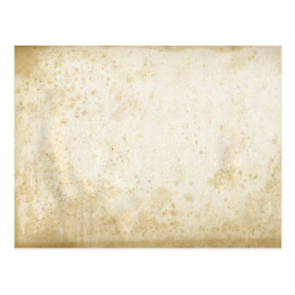 Blank Antique Stained Paper Postcard