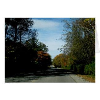Blank_Autumn Lane Note Card