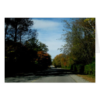 Blank_Autumn Lane Note Card