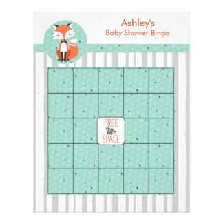 Blank Baby Shower Bingo Game - Mr. Foxy Fox Flyer Design