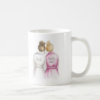 Blank Back Mug Brunette Bride Blonde Maid of H
