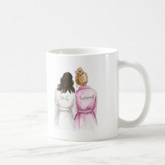 Blank Back Mug Brunette Bride Dk Blonde Bm