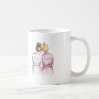 BLANK BACK Mug Brunette Bun Bride Bl Bun BM