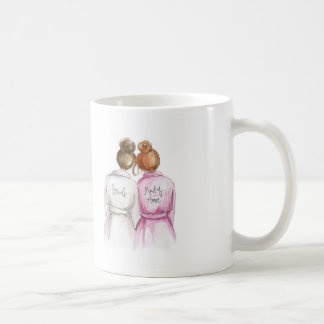 BLANK Back Mug Brunette Bun Bride Red Bun MOH