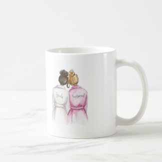 BLANK BACK Mug Dark Br Bun Bride Dark Bl Bun Maid