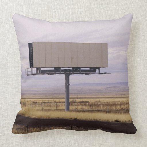 Blank Billboard Throw Pillow