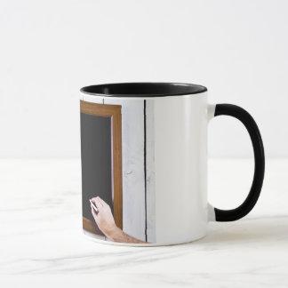 Blank blackboard, add your text mug