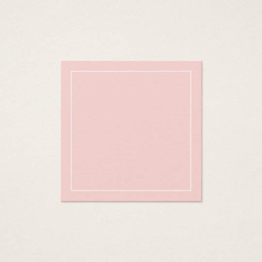 Blank Blush Pink with White Border Square Business
