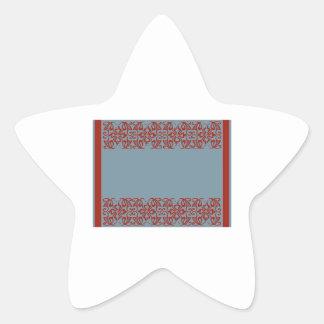 Blank Border Star Sticker