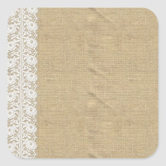 Blank Burlap Lace - Customisable Product Packaging Square Sticker