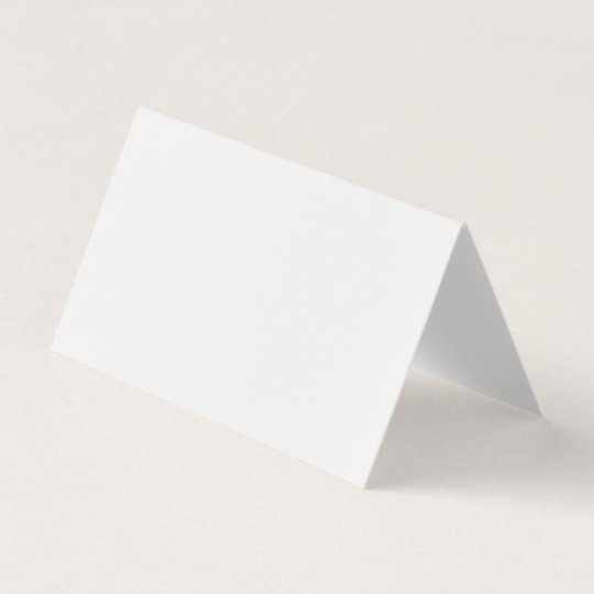 blank canvas folded business card template
