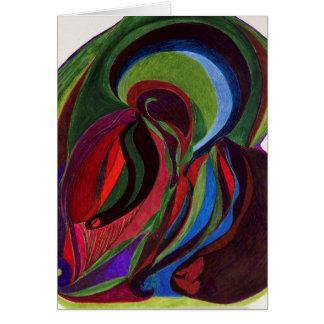 "Blank Card 5x7 titled ""Feminine Mystique"""