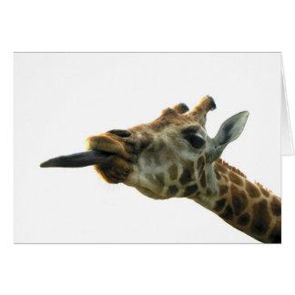 blank card - giraffe