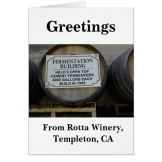 Blank Card: Historic Rotta Winery Greeting Card