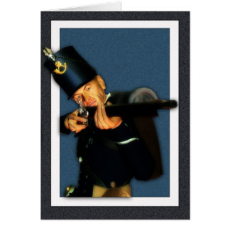 Blank Card - Hussar Foot Soldier With Gun
