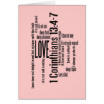 Blank Card - Love is Patient Mix Blush Pink