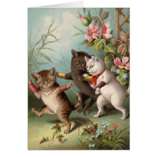 Blank card - Naughty Cat series - Mischievous Cats