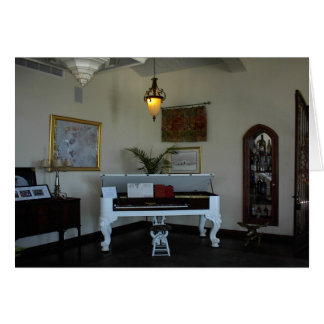Blank Card: Piano at Eagle Castle Greeting Card