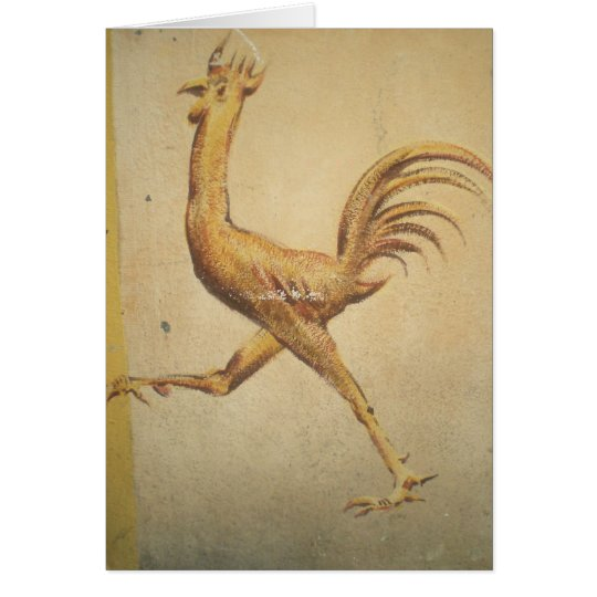 Blank Card - Rustic Rooster