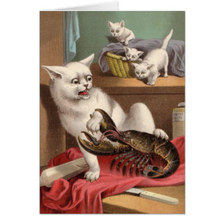 Blank card - Shocking Lobster!