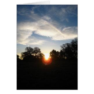 Blank Card, Sunrise Card