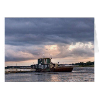 Blank Card with Mississippi River Boat