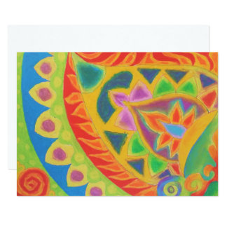 Blank card with Mystical design! Customize free! 13 Cm X 18 Cm Invitation Card