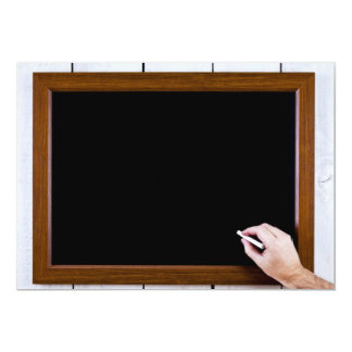 Blank chalkboard ready for your text announcement