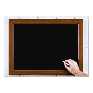 Blank chalkboard ready for your text 13 cm x 18 cm invitation card