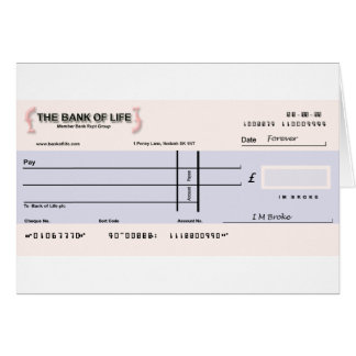 Blank Check Card