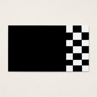 blank checker business card
