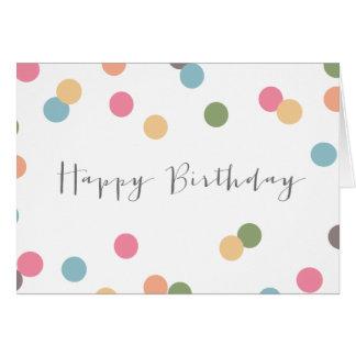 Blank Confetti Dot Birthday Card